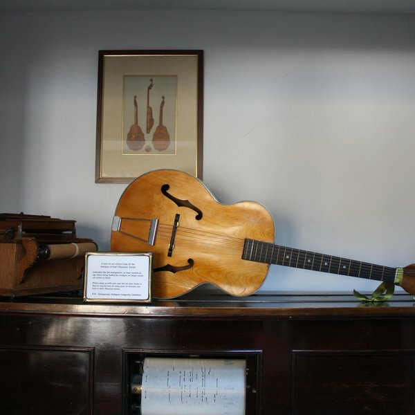 Musical instruments hidden away in the main house.